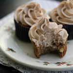 Banana Chocolate Chip Cupcakes with Bourbon Cinnamon Buttercream