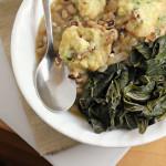 Black-Eyed Peas and Cornmeal Dumplings