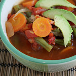 Mexican Vegetable Soup with Avocado