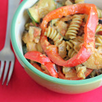 Pasta with Roasted Vegetables and Chipotle-Goat Cheese Tomato Sauce