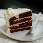 Red Velvet and Cinnamon Layer Cake