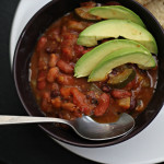 Smoky Chipotle Vegetarian Chili with Parmesan-Black Pepper Beer Bread