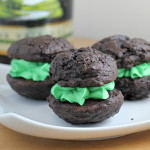 Bailey's Mint Chocolate Whoopie Pies