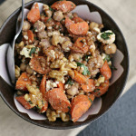 Roasted Carrot and Chickpea Wheat Berry Salad