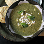 Herb, Chard, and Feta Soup with Beer Biscuits