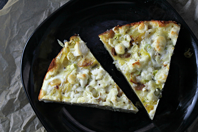 potato fritatta with feta and scallions