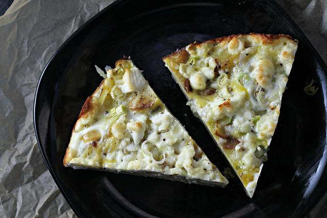 potato fritatta with feta and scallions