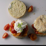 Tomato Scallion Shortcakes with Whipped Goat Cheese…and an Earth Day GIVEAWAY!!