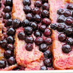 Rhubarb, Blueberry and Ginger Brioche Bread Pudding {GIVEAWAY}