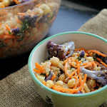 Moroccan Carrot and Chickpea Salad with Dried Plums, Quinoa, and Toasted Cumin Vinaigrette