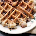 Cherry Almond Muffin Waffles