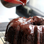 Chocolate Heartland Bundt Cake with Chocolate Honey Glaze