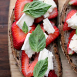 strawberry brie and basil grilled cheese
