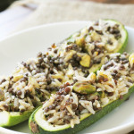 Stuffed Zucchini with Pistachio and Dill