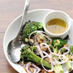 Honey Mustard Broccoli Salad with Beluga Lentils