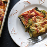 Eggplant Manicotti with Creamy Pesto Filling