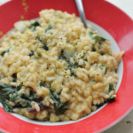 Corn and Caraway Risotto with Swiss Chard