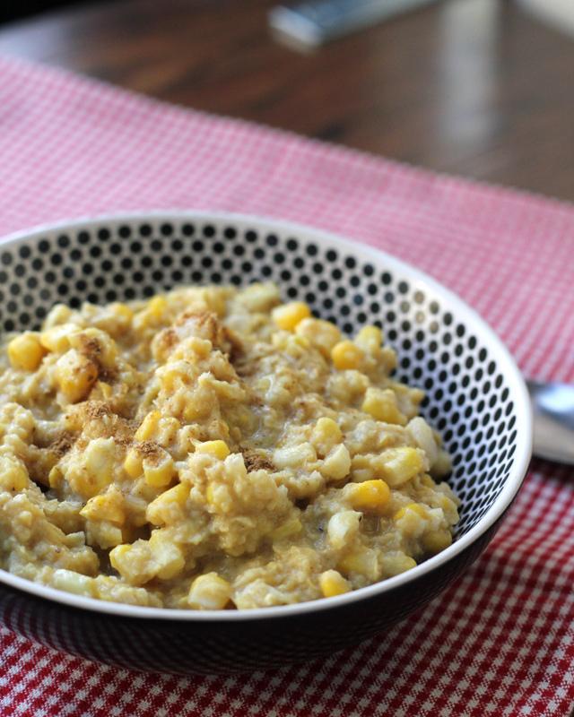 creamed corn with garam masala