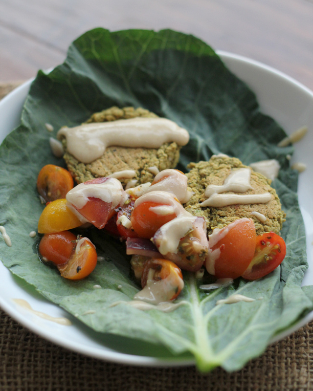 herb and pistachio falafel