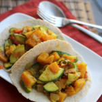 winter and summer squash curry tacos