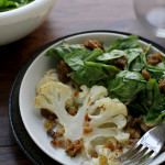 Roasted Cauliflower with White Beans and Curried Raisin Jam {giveaway}