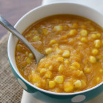 sweet potato, corn and jalapeno bisque