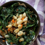 Fried Spelt Berries with Pickled Carrots, Kale and Eggplant