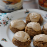 Malted Pumpkin Cookies with Brown Butter Frosting