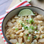 White Bean and Hominy Chili with SweetPotato Jalapeno Corn Muffins