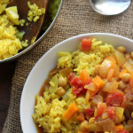 Curried Chickpea Stew with Rice Pilaf #RecipeRedux