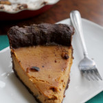 Maple Bourbon Pumpkin Pie #PieWeek