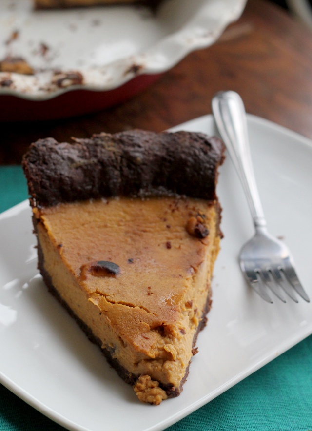 maple bourbon pumpkin pie from Eats Well With Others