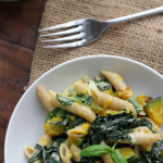 Penne with Butternut Squash, Kale, and Goat Cheese {12 Weeks of Winter Squash}