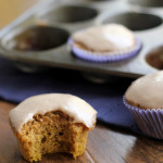 pumpkin pound cake cupcakes with maple cinnamon glaze