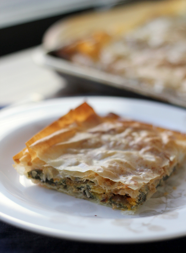 pumpkin spanakopita from Eats Well With Others