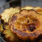 roasted acorn squash and brussels sprouts with honey, smoked paprika and sage salt from Eats Well With Others