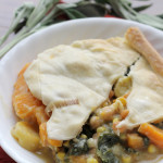 Winter Squash Pot Pie with Swiss Chard and Chickpeas #PieWeek #GIVEAWAY