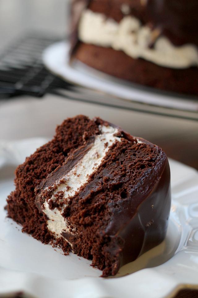 salted caramel ding dong cake