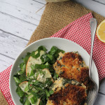 Smoky Kale and Potato Cakes and Red Kale Salad with Quick-Pickled Apples