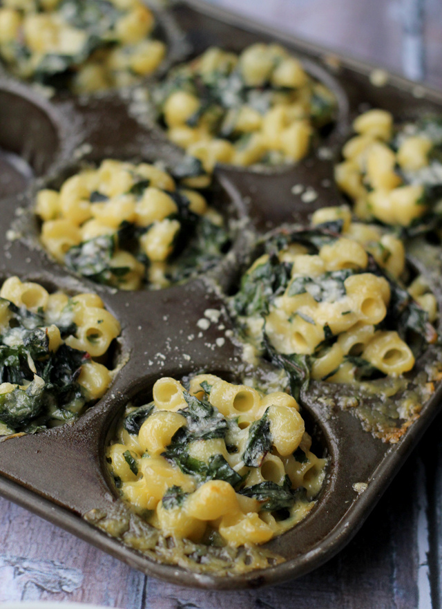 spicy chard mac n cheese bites