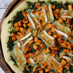 Sweet Potato, Kale Pesto, and Brie Pizza