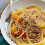 Bucatini Peperonata with Toasted Rosemary Breadcrumbs