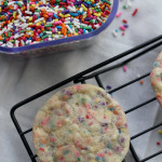 soft and chewy snickerdoodle sprinkle cookies