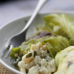 stuffed cabbage with ricotta and pine nuts