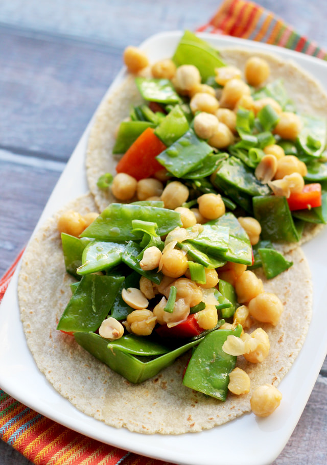 kung pao chickpea tacos