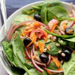 Spinach Salad with Barley and Cinnamon Vinaigrette