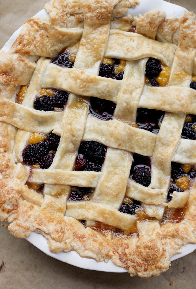 Blackberry Mango Curd Pie