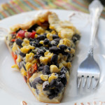 roasted corn, poblano and red pepper galette