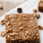 salted peanut blondies
