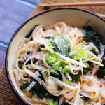 Spicy Coconut Rice Noodles with Kale and Basil {#PlatedFresh}